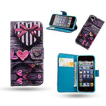 IPhone 5/5s/SE lederen case Wallet-ontworpen