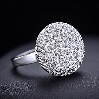 18K White Gold Plated 0.5 Carat Cubic Zirconia Ring