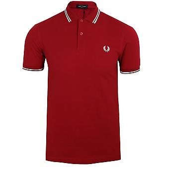 Fred perry men's siren twin tipped polo shirt