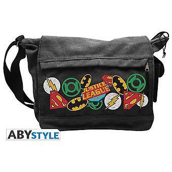 Abysse Dc Comics Messenger Bag Justice League Logos Big Size