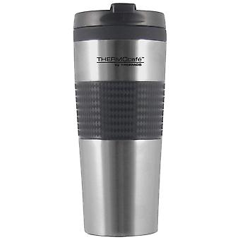 Thermos Silver Flip Top Stainless Steel Travel Tumbler