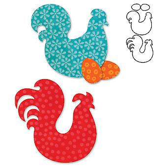 Go! Fabric Cutting Dies It Fits! Folk Art Fowl 553 75