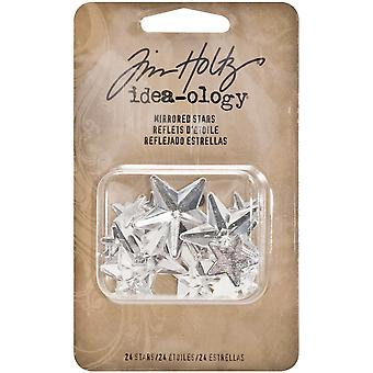 Idea Ology Mirrored Stars 24 Pkg Clear Assorted Sizes .25