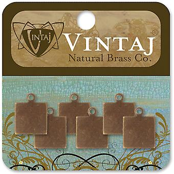 Vintaj Metal Altered Blanks 6 Pkg Square Tag 9X9mm Dp0002r