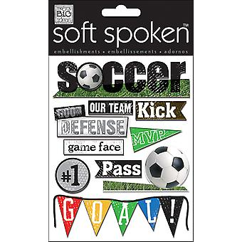 Soft Spoken Themed Embellishments Soccer Ss 1175