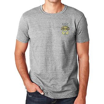 Princess Victorias Royal Irish Fusiliers Embroidered Logo - Official British Army Cotton T Shirt
