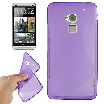 Mobile case TPU protective case for HTC One Max / T6 purple