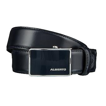 ALBERTO logo belts men's belts leather belt Navy/Blue 3071