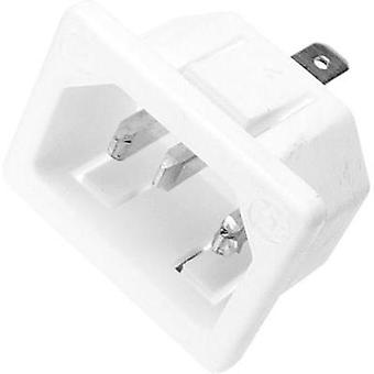 IEC connector C14 ATT.LOV.SERIES_POWERCONNECTORS 753 Plug, vertical mount Total number of pins: 2 + PE 10 A White Kaiser