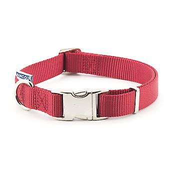 Limited Edition Nylon Adjustable Collar Claret 30-50cm