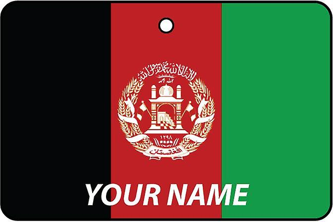 Afghanistan Flag Personalised Car Air Freshener