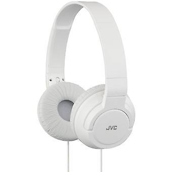 JVC Lightweight Powerful Bass Headphones - White (HAS180W)