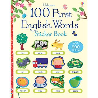 100 First English Words Sticker Book (100 First Words Sticker Books) (Paperback) by Brooks Felicity Di Chiara Francesca