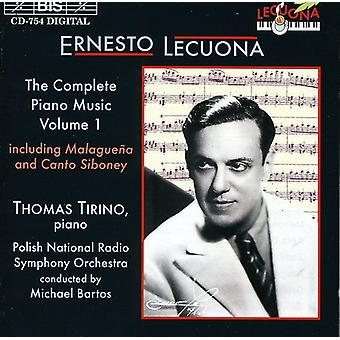 E. Lecuona - Ernesto Lecuona: The komplet klavermusik, Vol. 1 [CD] USA import