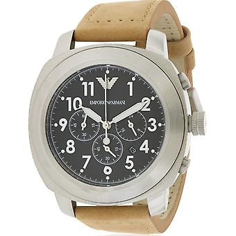 Emporio Armani leder Mens Watch AR6060