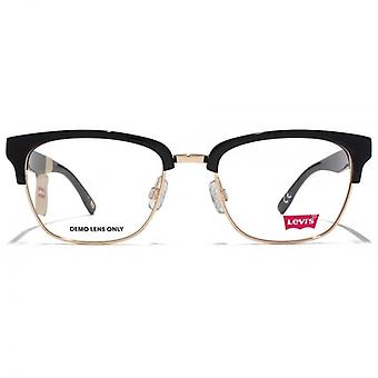 Levis Square Clubmaster Style Glasses In Black