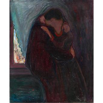 Edvard Munch - The Kiss Poster Print Giclee