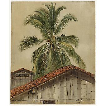 Thomas Moran - Church Palm Trees Poster Print Giclee