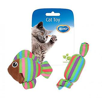 Duvo+ Cat toy Fish And Candy 8.5 X 8 X 2.8 Cm (Cats , Toys , Plush & Feather Toys)