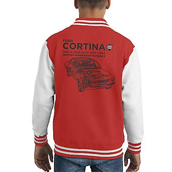 Haynes Owners Workshop Manual Ford Cortina Black Kid's Varsity Jacket
