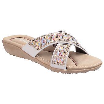 Divaz Madonna Ladies Diamante Crossover muldyr sandaler