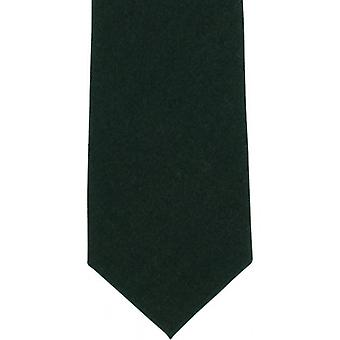 Michelsons of London Plain Wool Tie - Green
