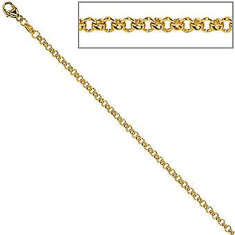 Pea chain 585 Yellow Gold 1.5 mm 40 cm gold chain necklace gold necklace carabiner