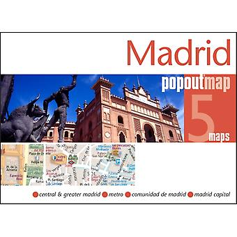 Madrid Popout Map - handy pocket size pop-up city map of Madrid; includes a metro map (Popout Maps) (Map)