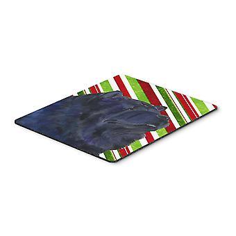 Canna di caramella di Chow Chow vacanza Natale Mouse Pad, Pad caldo o sottopentola