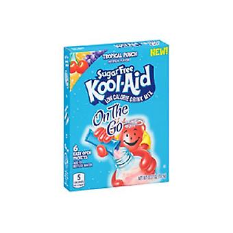 Kool Aid gehen Zucker frei Tropical Punch Drink Mix Singles 2 Box-Pack