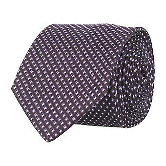 OTTO KERN narrow tie silk silk tie Club tie black box 6.5 cm