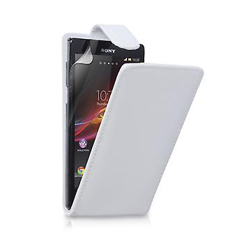 Yousave Accessories Sony Xperia Z Leather-Effect Flip Case - White