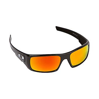 Best SEEK Polarized Replacement Lenses for Oakley CRANKSHAFT Black Red Mirror