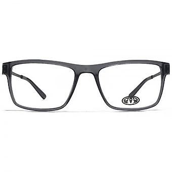 Animal Dale Large Rectangle Acetate Glasses In Crystal Grey