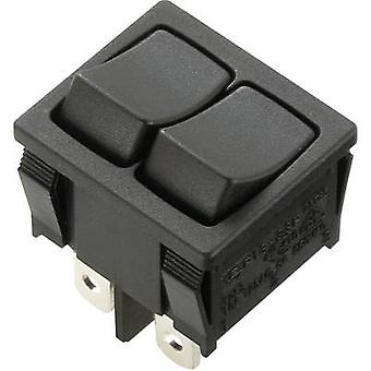 Toggle switch 250 V AC 6 A 2 x Off/On SCI R13-33PA