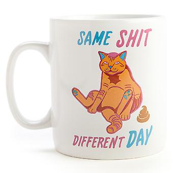 Same Sh#t Different Day Cat Giant Coffee Mug