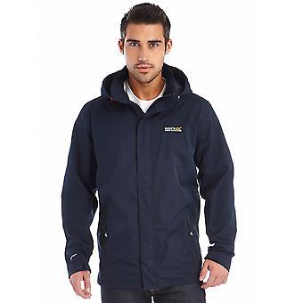 Regatta Mens Matt Waterproof Hiking Walking Jacket Coat Navy
