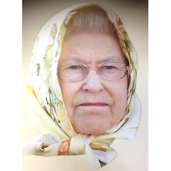 Queen Elizabeth With Headscarf Face Mask