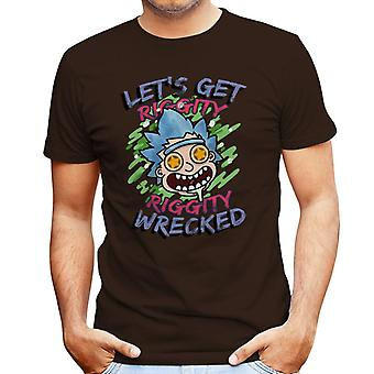 Riggity Riggity Wrecked Crazy Rick And Morty Men's T-Shirt