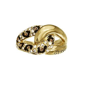 Guess ladies ring stainless steel gold Crystal UBR51422
