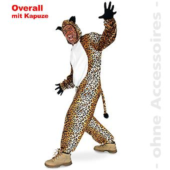 Leo complessiva leopardo costume gatto selvaggio leopardo jumpsuit Tuta costume unisex con cappuccio