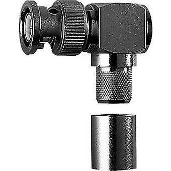 BNC connector Plug, right angle 50 Ω Telegärtner J01000A0065 1 pc(s)
