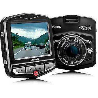 Lamax Drive C7 Dashcam Horizontal viewing angle (max.)=150 ° 12 V Display, Battery, Microphone