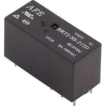 AFE BRT2-SS-212D PCB relays 12 Vdc 8 A 2 change-overs 1 pc(s)
