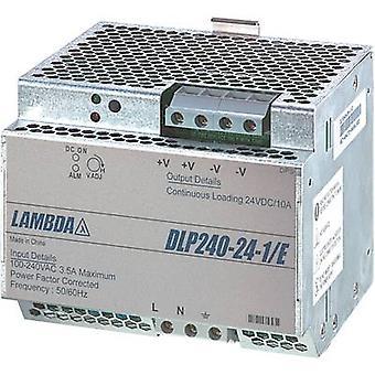 Rail mounted PSU (DIN) TDK-Lambda DLP-240-24-1/E 24 Vdc 10 A 240 W 1 x