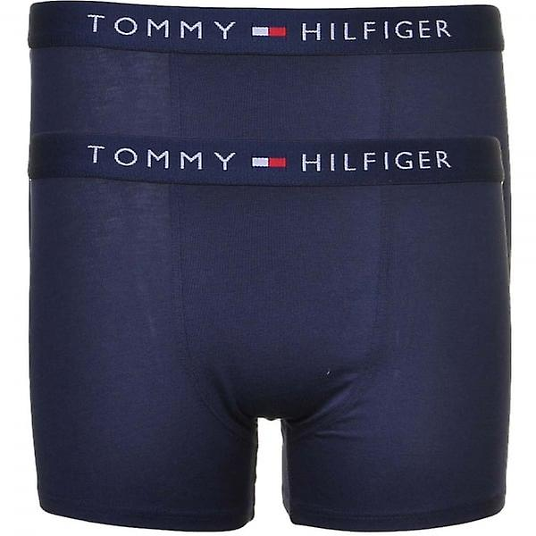 Tommy Hilfiger Boys 2 Pack Icon Boxer Trunk, Navy, XX-Large