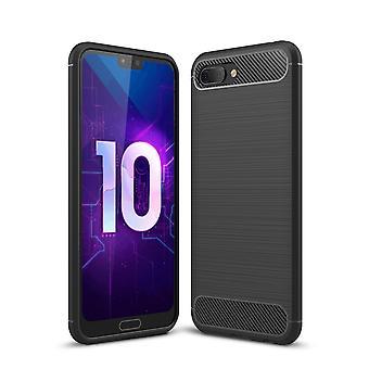 Huawei honor carbono de silicone preto tampa 10 olha caso móvel capa TPU de para-choques 211763
