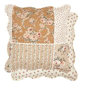 Clayre & EEF romantisk pudebetræk pudebetræk Millefleur sommerhus lurvet 50 x 50 cm
