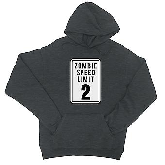 Zombie Speed Limit Unisex Cool Grey Pullover Hoodie