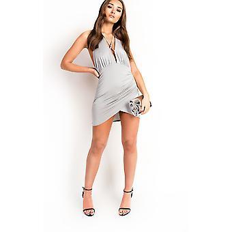 IKRUSH Womens Blake Slinky Backless Bodycon Dress